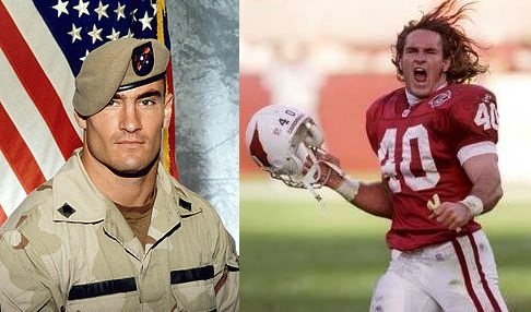 Pat Tillman was an Arizona State Football player who went on to play in the NFL and then left the NFL to join the Army Rangers where he gave the ultimate sacrifice - his life - for his country.