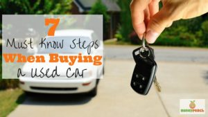 steps to buying a used car
