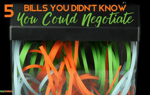 bills you can negotiate