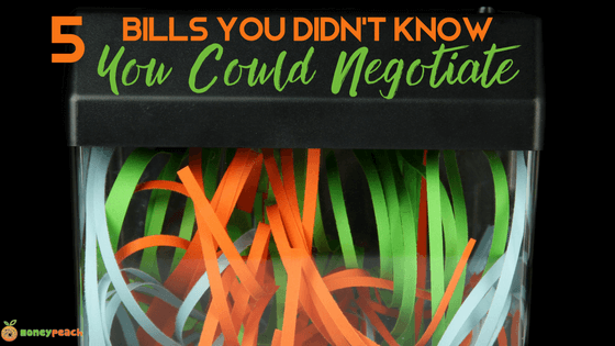 bills you can negotiate